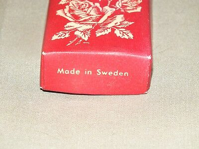Beautiful Silver Rose Leaf Pattern Pickle Fork Made in Sweden 8