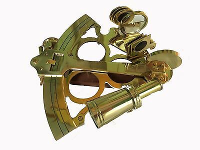 "Antique Brass Sextant Nautical Working Maritime Astrolabe Ships Instruments 8"" 4"