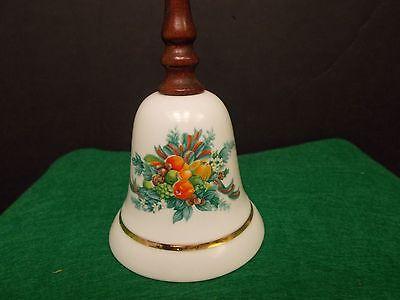 Vintage Porcelain Christmas/thanksgiven Avon 1985 Bell