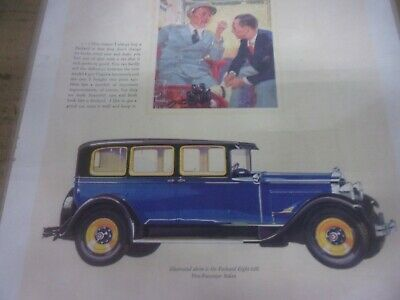 1929 Packard Eight 626 5 Passenger Sedan Magazine Ad 3