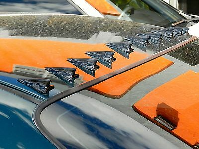 10PC STICK-ON RACING VORTEX GENERATOR ROOF SHARK FIN KIT FOR 13-16 SCION FRS