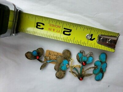 Antique Chinese blue Kingfisher feather hair stick pin ornament 9