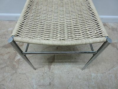 Vintage Mid Century Chrome Italian Ladder Back Dining Side Desk Chair 10