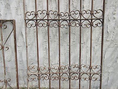 Antique Victorian Iron Gate Window Garden Fence Architectural Salvage Door #327 3