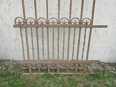 Antique Victorian Iron Gate Window Garden Fence Architectural Salvage Door #317 4