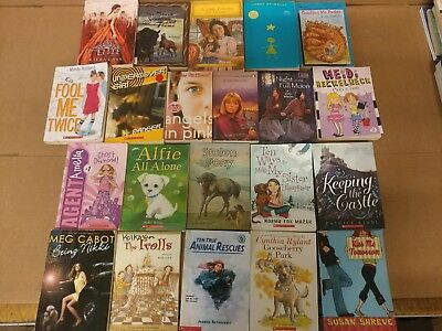 Lot of 20 Chapter Books for GIRLS Youth Early Reader Young Adult Children RANDOM 6