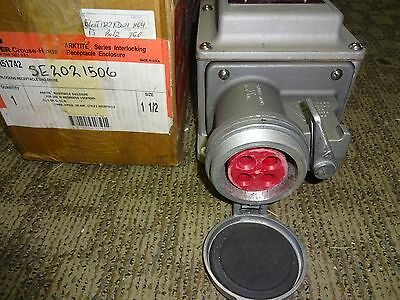 Crouse Hinds Dbr51742 Interlocking Receptacle Enclosure 3 Wire, 4 Pole, 100 Amp 4