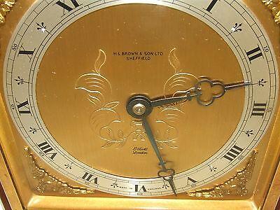 Large ELLIOTT LONDON Walnut Bracket Mantel Clock : H L BROWN & SON LTD SHEFFIELD 5