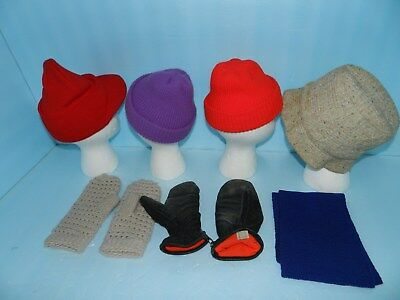 Lot of Hats~Gloves~mittens~ 4 Hats 2 Pairs of Gloves and 1 Scarf~Good Condition! 2