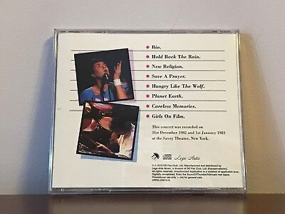 Duran Duran MTV's 2nd Annual New Year's Eve Rock'n'Roll Ball '82 CD w/The Pass 2