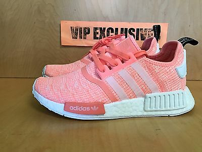 11a22342c 4 of 9 Adidas NMD R1 W Sun Glow White Bright Pink Orange Coral BY3034  Women s SZ 6-