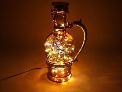 Flaschen Lampe Ratskeller Pils Krug rustikal Tischlampe mit 120 LED´s ww+MC 5