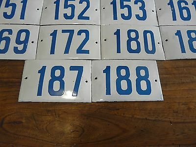 Big Choice ( 2 to 188 ) Vintage Porcelain Enamel Tin Sign Street House Numbers 10