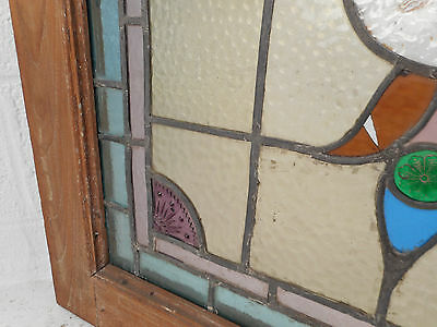 Vintage Stained Glass Window Panel (3143)NJ 9