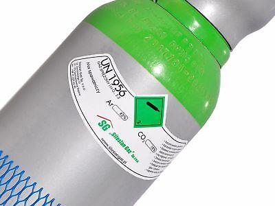 Bombola di gas 8 litri ARGON (82%) + CO2 (18%) inerte MIG saldatura + Riduttore 6