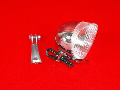 Fahrrad Retro Scheinwerfer Frontlicht Anlun Fahrradlampe Dynamo Chrom Neu