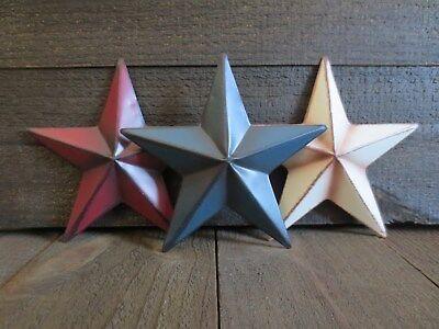 Honey Primitive Tin Americana Flag Star Ornament Barn Patriotic New Tree Or All Year Collectibles Holiday & Seasonal