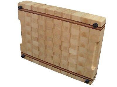 Handmade, Cutting Board End Grain, with Feet, Butcher Block, Chopping Board, Ash 2