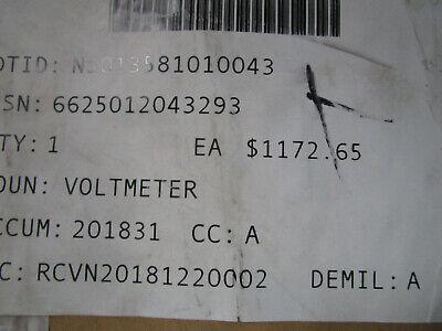 Martin Marietta Voltmeter p/n 0341D0018   250VV10U10SH  New 6