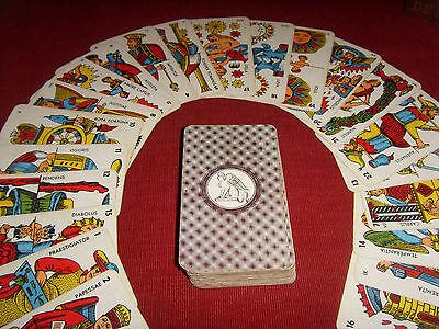 ece887705c8 ANCIEN ARCANES DU destin 78 Tarots antiques french fortune telling card  VINTAGE