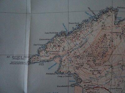 "Ordnance Survey 2.5"" Map SM72 St Davids 1958 Tre-tio Ramsey Island, bit. 4"