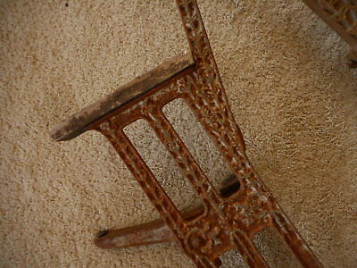 Ornate Theater Opera Seat for restoration Antique Cast Iron Rusty Salvage Part 3