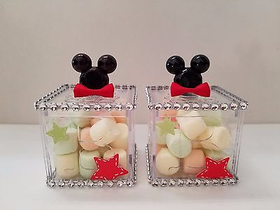 12 Mickey Mouse Fillable Blocks Baby Shower Favors Prizes Game Boy