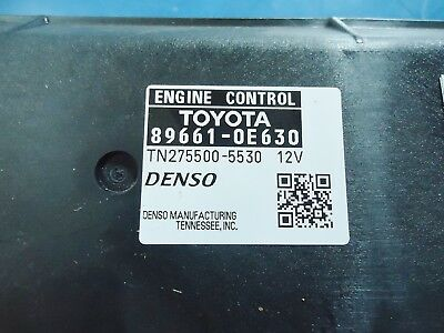 Toyota Highlander New Engine Control Module 89661-0E630 Tn275500-5530,12V Denso