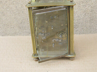 Antique French Bronze Carriage Clock 1900s - working 5