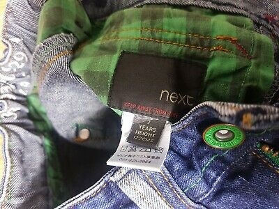 Next Boys Stonewashed Jeans Age 7 Years Blue Denim Trousers Adjustable Waist 3