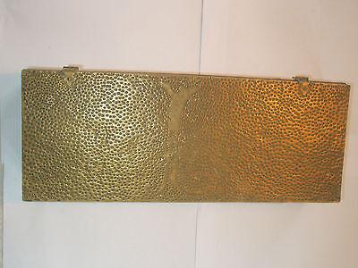 Vintage 1910 Apollo Studios NY Hammered Copper Arts & Crafts Wood Lined Desk Box 2