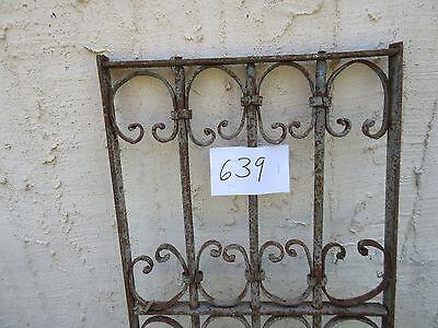 Antique Victorian Iron Gate Window Garden Fence Architectural Salvage Door #639 4
