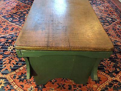Early Six Plank Pine Footstool Storage Stool Sewing Storage Box 5