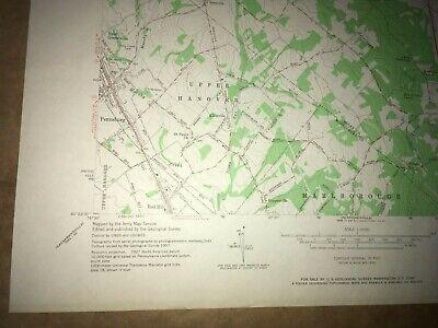 Milford Square PA Bucks Co USGS Topographical Geological Survey Quadrangle Map 4