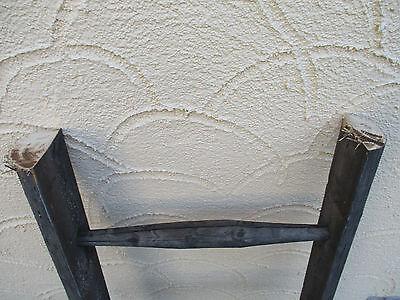 alte Holzleiter(77) Deco Blumenampel Baumleiter Handtuchhalter Kleiderhalter 2