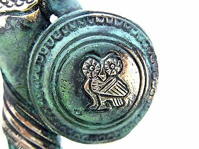Ancient Greek Bronze Museum Statue Replica of Athena Goddess Wisdom Spear Shield 7