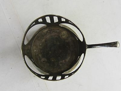 Wmf Art Nouveau Silverplate Pewter Glass Holder Marked-1900 5