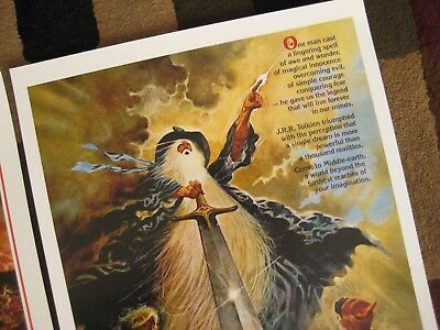 """Lord of the Rings ( 11"""" x 17"""" )  Movie Collector's Poster Prints ( Set of 2 ) 5"""