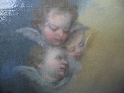 Murillo, Bartolome, Studio Of.antique Oil Christ, Lamb, Angels 6