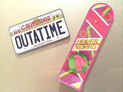 Back to the Future Hoverboard Outatime License Plate Plastic Fridge Magnets Cool 2