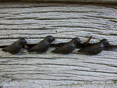GROUP 4 CAST IRON RESTING BIRD CABINET PULLS DOOR DRAWER DRESSER KNOBS rustic 2
