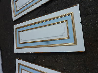 "circa 1902 painted pine WAINSCOT paneling raised panels 27/28"" x 27, 55, 61 & 72 8"