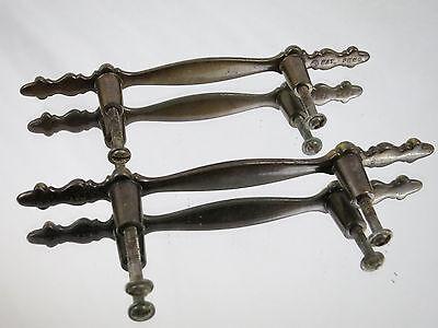 (2) Vintage Brass Dresser Drawer Cabinet Handle Pulls knob Hardware Ornate Old 5