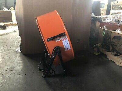 24 Inch Orange Direct Drive Industrial Grade Fan w/ 180 degree tilt 3