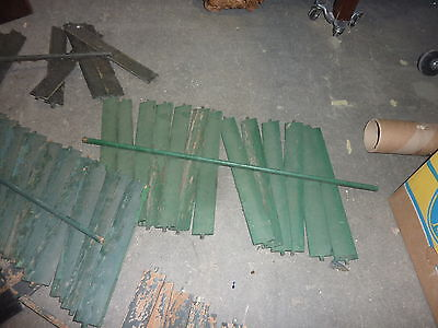 SALVAGED wooden SHUTTER slats GREAT for ART projects & painting - w/ATTACHED bar 8