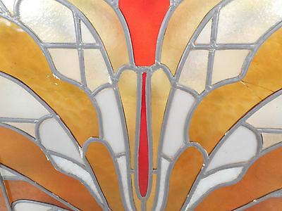 Large Vintage Stained Glass Window (1512)NJ 8
