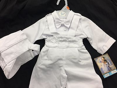104f08c16 ... Baby Boy Christening Baptism white Outfit/Suspender/Cross/3 pieces  Outfit/XS