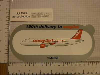 A320 EASYJET SHARKLETS 250TH NEUF STICKER AUTOCOLLANT AIRBUS