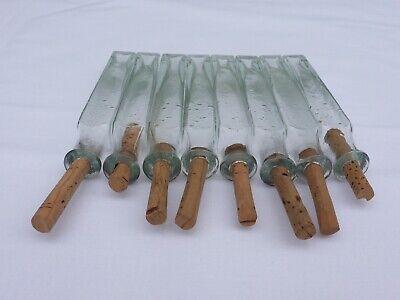 2 x alte kleine Medizin Glas Apotheke Apotheker Flasche grün lang ca. 9,5 cm 9