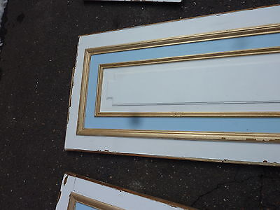 "circa 1902 painted pine WAINSCOT paneling raised panels 27/28"" x 27, 55, 61 & 72 4"